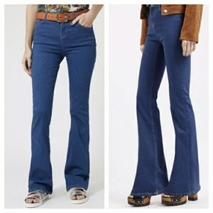 Top Shop Jamie high waisted Flare Jeans
